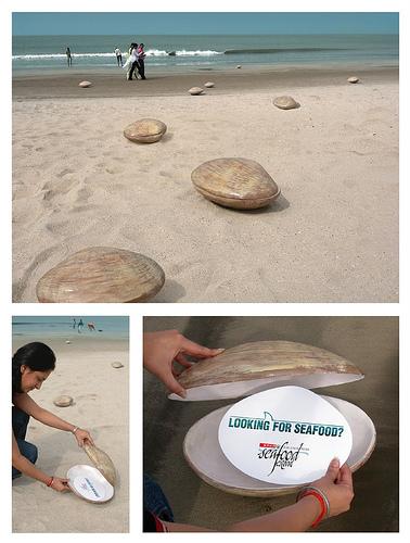Guerilla-Marketing Seafood